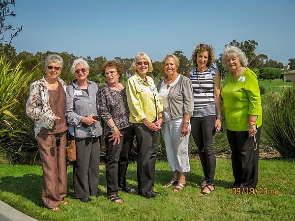 Judy (Kane) McGrath, Eddi (Willmot) Whitbeck, Helene (Davis) Singer, Shirley Granum, Darlene (Steinhaufel) Bovanich, Marilyn (Shoolman) Norton, and Arlene Hoover (a guest).