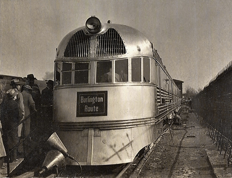 Streamliner, Burlington Route, c. 1940s. Gelatin Silver Print