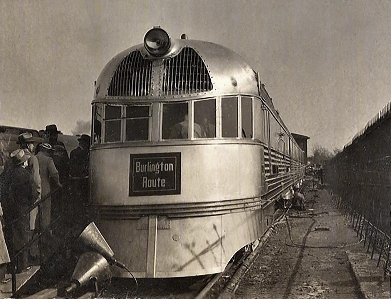 Streamliner, Burlington Route, c. 1940s. Gelatin Silver Print
