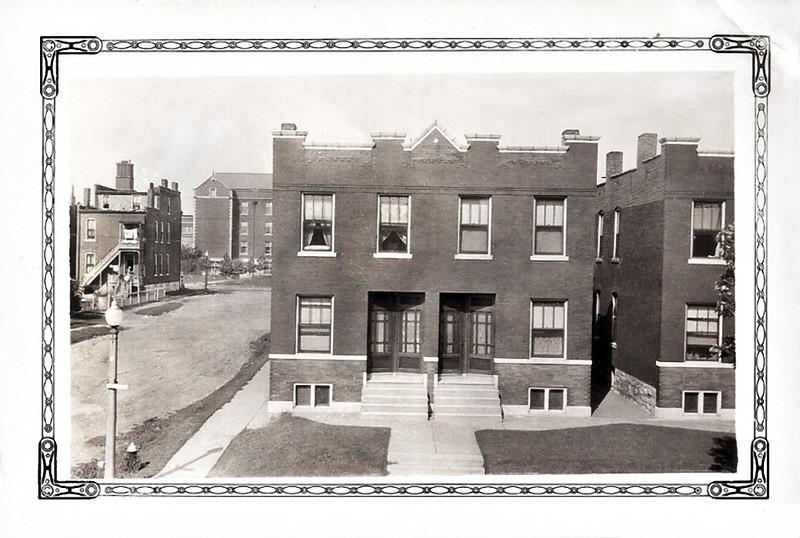 Apartment Building, Michigan Avenue, St. Louis, MO c. 1930. Gelatin Silver Print Snapshot