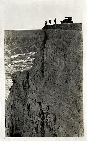 Badlands, SD, 1931. Gelatin Silver Print Snapshot