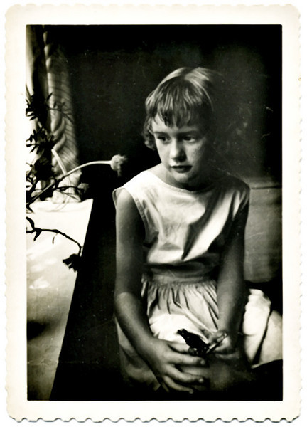Carolyn Cole (nee Kingston), Age Eight, c. 1949.  Gelatin Silver Print Snapshot