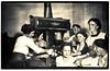 Family Toasting Marshmallows, c. 1925. Gelatin Silver Print Snapshot