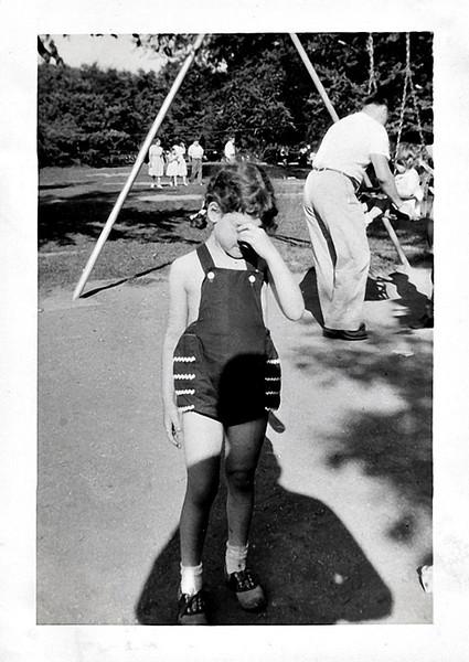 She'd Rather Not, c. 1950. Gelatin Silver Print Snapshot