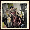 Elegantly Dressed Black Woman at Home, c. 1940s. Hand-Tinted Gelatin Silver Print Snapshot