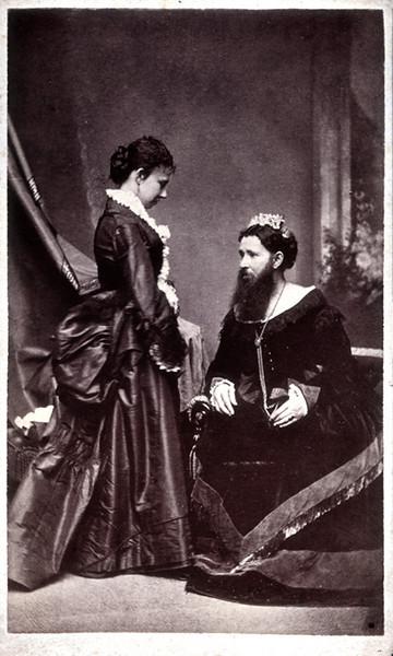 Bearded Lady, c. 1860s. Albumen Print Carte de Visite.