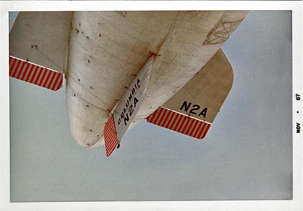 Dirigible Columbia N2A, 1967. Dye Coupler Print Snapshot
