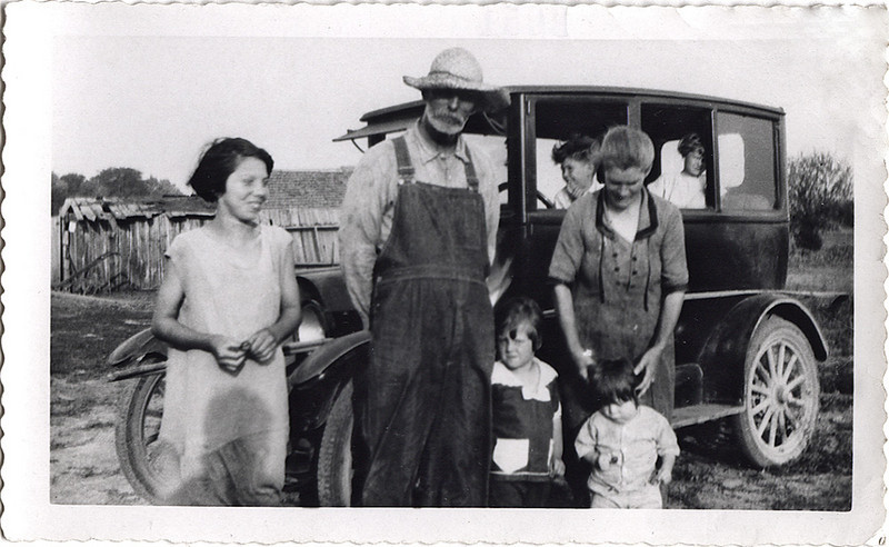 Mid-Western Farm Family, c. 1930. Gelatin Silver Print Snapshot