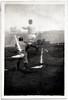 Baseball Game Double Exposure, c. 1920s. Gelatin Silver Print Snapshot