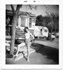 Trailer Park Pin-up Girl, Hair in Curlers, Chattanooga, TN, 1962. Gelatin Silver Print Snapshot
