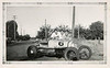 3 Guys with Race Car, c. 1930s. Gelatin Silver Print Snapshot