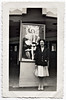 Performer Posing in Front of Her Own Marquee, c. 1945. Gelatin Silver Print Snapshot