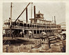 Stevedores Loading Freight onto Sternwheeler Riverboat, St Louis, MO, c. 1910. Gelatin Silver Print Snapshot
