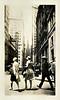"""Old Trinity"" Wall Street, New York, NY 1928. Gelatin Silver Print Snapshot"