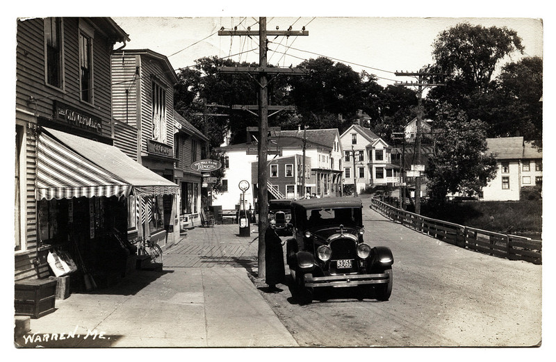 Warren, Maine Street Scene Anticipating the Style of Walker Evans #2, c. 1925. Real Photo Post Card