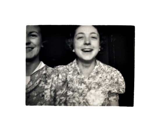 Happy Young Woman and Her Half Sister, c. 1920s. Gelatin Silver Print Snapshot