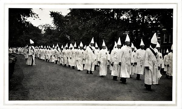 Ku Klux Klan Rally, Washington, DC, c. 1920. Gelatin Silver Print Snapshot
