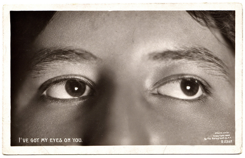 "The Rotograph Co, NY ""I've Got My Eyes On You,"" 1904. Real Photo Post Card"