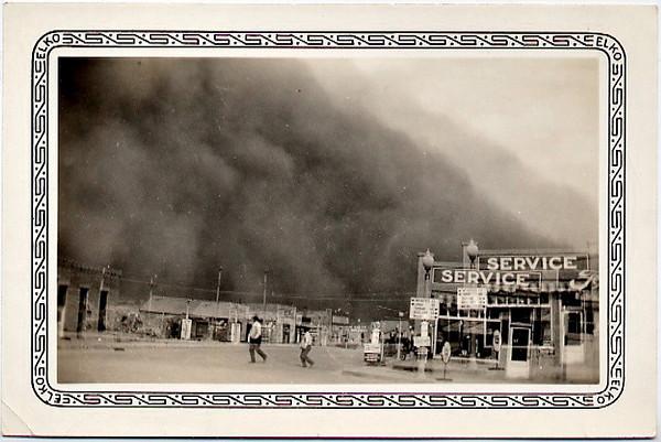 Dust Storm Double Exposure, c. 1930s. Gelatin Silver Print Snapshot