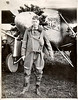 Charles A. Lindbergh and The Spirit of St. Louis, c. 1927. Gelatin Silver Print.