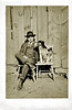 Man and Dog, c. 1915. Real Photo Post Card