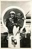 Shipboard Love Birds, c. 1920s. Gelatin Silver Print Snapshot