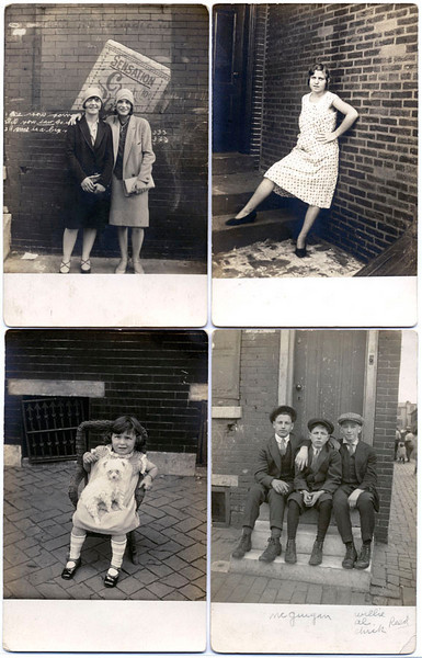 John Frank Keith, Four Portraits, Philadelphia, PA. c. 1920s. Four Real Photo Post Cards from a Collection of over 200 by the Photographer.