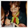 John Lennon Signing Autographs, 1967. Dye Coupler Print Snapshot