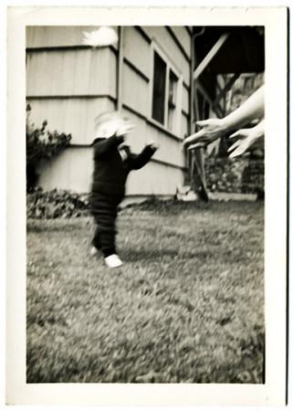 Rodger Kingston Learning To Walk, 1942. Gelatin Silver Print Snapshot
