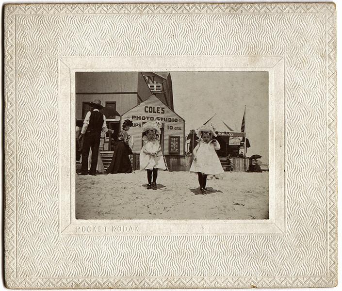 Coles Photo Studio c. 1900. Pocket Kodak Print. Gelatin Silver Print Mounted on Embossed Card