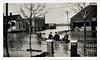 Flooded Town, c. 1910s. Gelatin Silver Print Snapshot