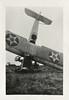 Oops! Crashed Curtis Jenny Trainer Biplane, c. 1918. Gelatin Silver Print Snapshot