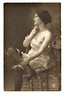 Semi-nude Portrait, c. 1925. Real Photo Post Card