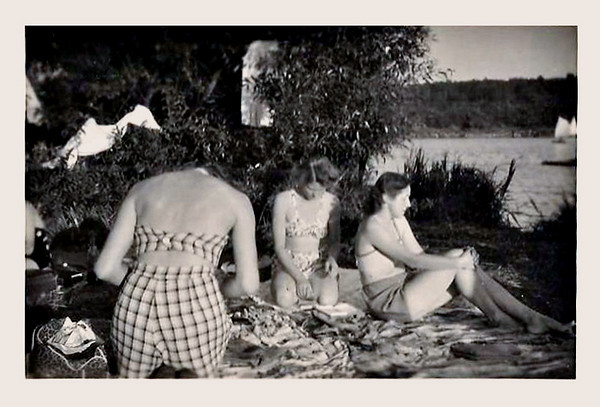 A Picnic at the Lake, c. 1940s. Gelatin Silver Print Snapshot