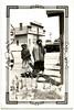 Two Indian Women Crossing Train Tracks,c. 1940s. Gelatin Silver Print Snapshot