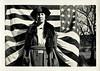 Patriotic Portrait, c. 1910s. Gelatin Silver Print Snapshot