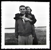 Affectionate Couple, c. 1950s. Gelatin Silver Print Snapshot