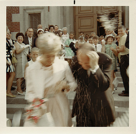 Throwing Rice, c. 1960s. Dye Coupler Print Snapshot