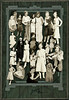 Photo Collage of 20 Snapshots of a Young Woman from Infancy through Adolescence, c. 1940s. Gelatin Silver Print Snapshots Cut Out and Glued to a Seattle, WA Studio Mount