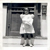 Young Black Girl with White Doll, c. 1950s. Gelatin Silver Print Snapshot