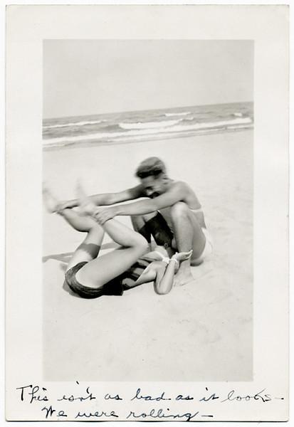 """We Were Rolling,"" c. 1940s. Gelatin Silver Print Snapshot"