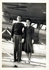 Couple on Pontoon of Seaplane, c. 1930s. Gelatin Silver Print Snapshot