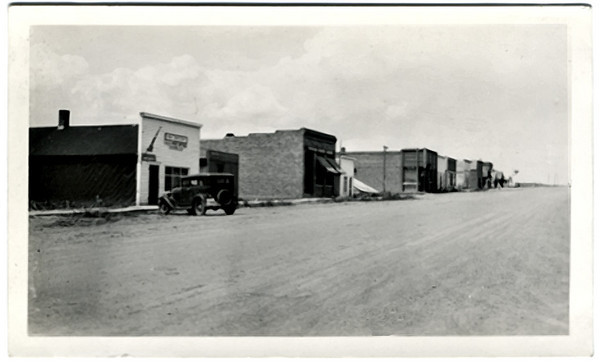 Vivian, SD, Showing Post Office, Bank, and Stores, c. 1920s. Gelatin Silver Print Snapshot