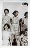 Girlfriends, All but One in Plaid Dresses, c. 1940s. Gelatin Silver Print Snapshot