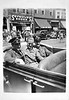 Soldiers in Convertible, Memorial Day Parade, Hack, NJ, 1941. Gelatin Silver Print Snapshot