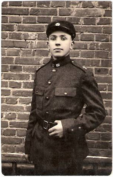 Young Lithuanian Soldier, 1930. Gelatin Silver Print Snapshot
