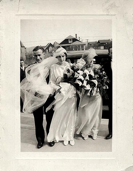 Wedding Party, c. 1930s. Gelatin Silver Print Snapshot