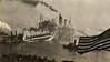 Camouflaged Ocean Liner Entering Harbor, c. 1918. Gelatin Silver Print