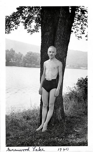 """""""Greenwood Lake 1940."""" Gelatin Silver Print Snapshot"""