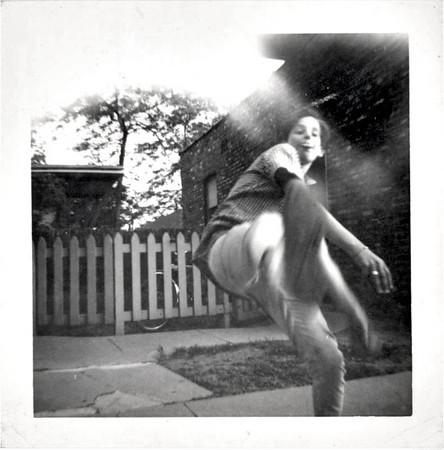 The Wind-up, c. 1960s. Gelatin Silver Print Snapshot